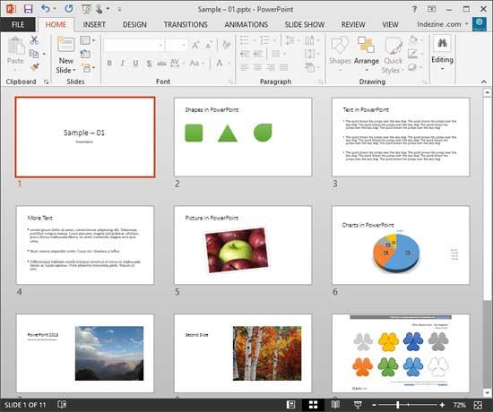 sample presentations slides