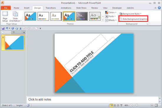 format slide background in powerpoint 2010 for windows
