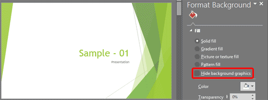 format slide background in powerpoint 2016 for windows