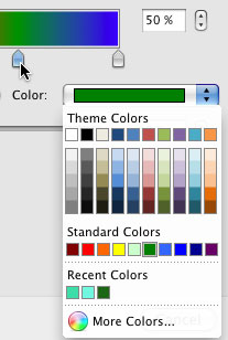 Color drop-down menu