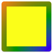 Gradient style applied to the Rectangle shape outline