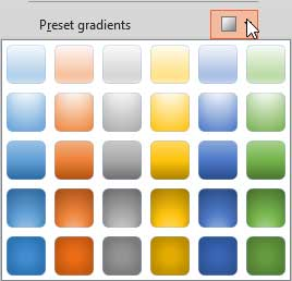 Preset gradients