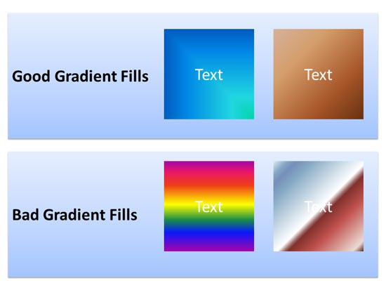 Are your gradients subtle or gaudy?