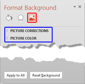 Format Background Task Pane