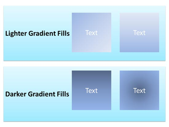 Basic gradient fills for shapes