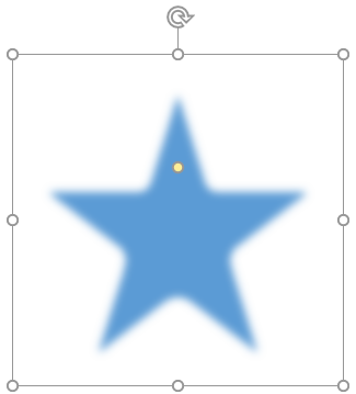 Soft Edges applied to the Star shape