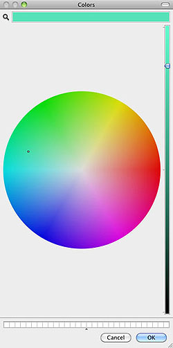 Mac OS X Color picker