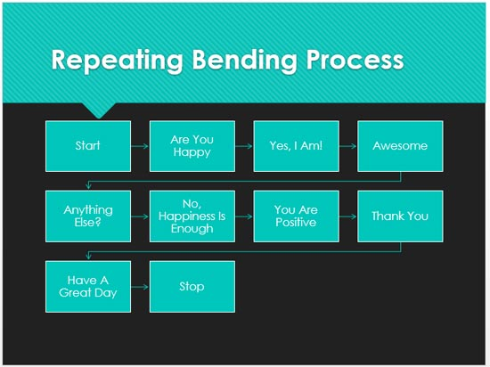 Repeating Bending Process SmartArt