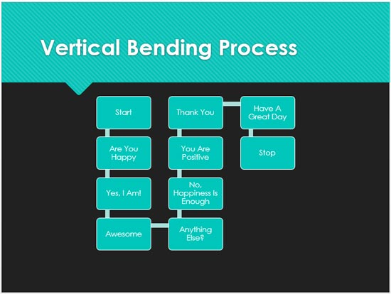 Vertical Bending Process SmartArt