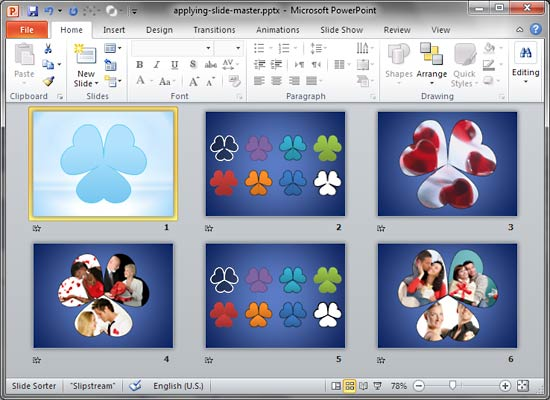 applying slide masters to individual slides in powerpoint 2010 for, Modern powerpoint