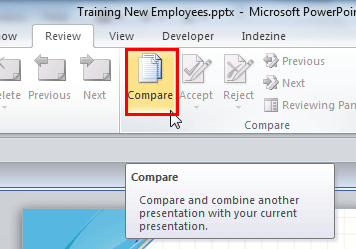 Compare and Merge Presentations