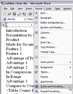 Creating PowerPoint Outlines in Microsoft Word 2003