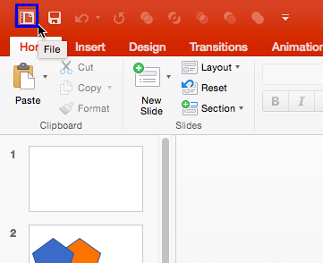 File icon in QAT