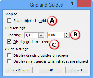 Grid and Guides dialog box