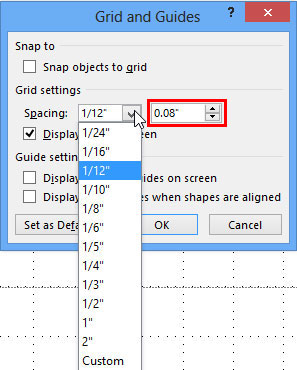 Snap To Grid Settings In Powerpoint 2013 For Windows
