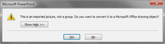 Do you want to ungroup?