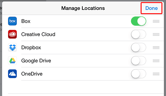 Add a cloud location