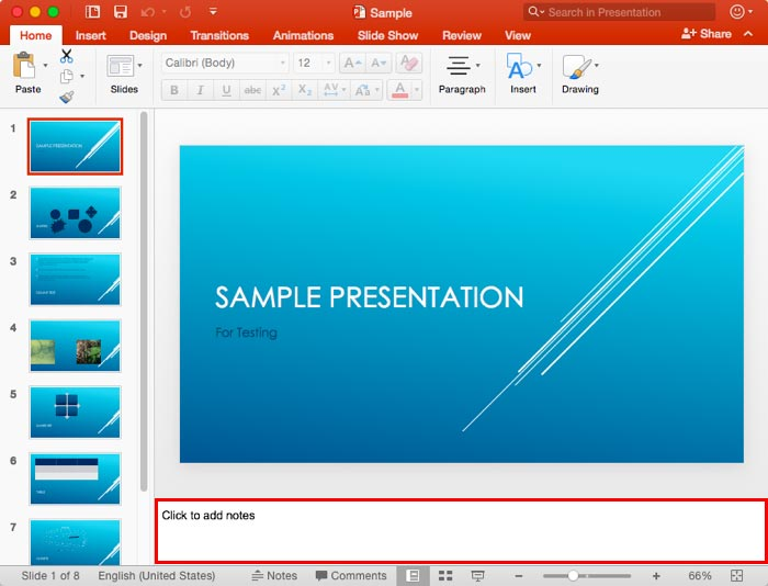 Notes pane in powerpoint 2016 for mac toneelgroepblik Image collections