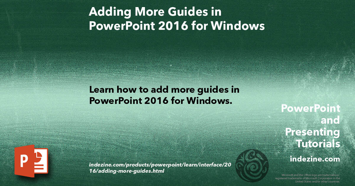 how to add more guides in powerpoint