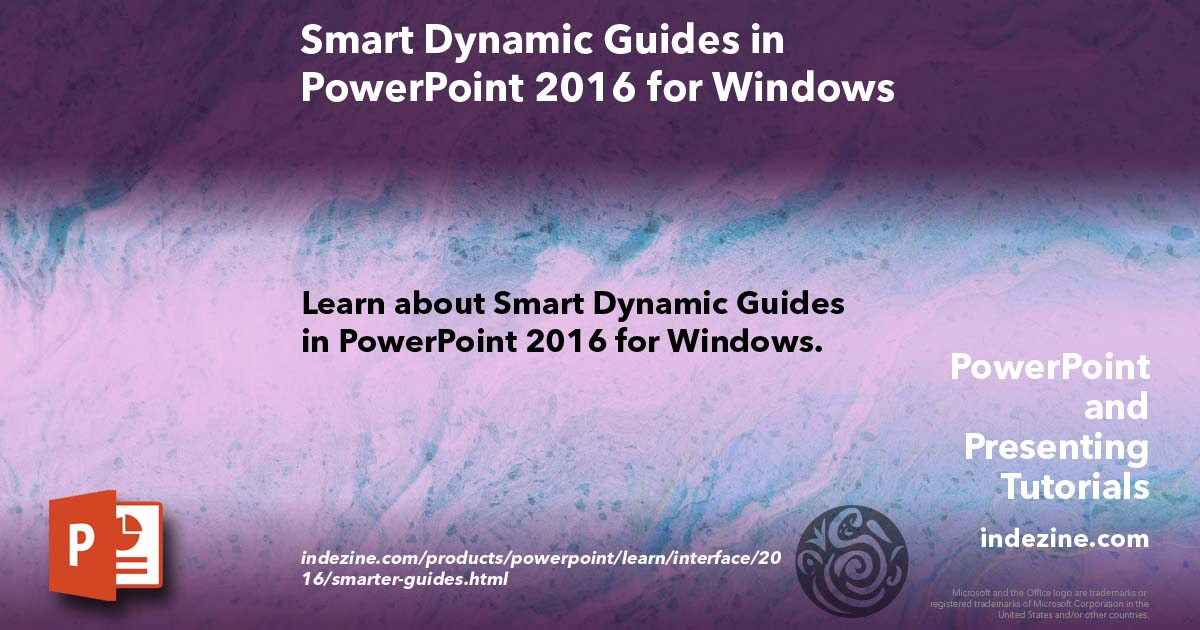 smart dynamic guides in powerpoint 2016 for windows