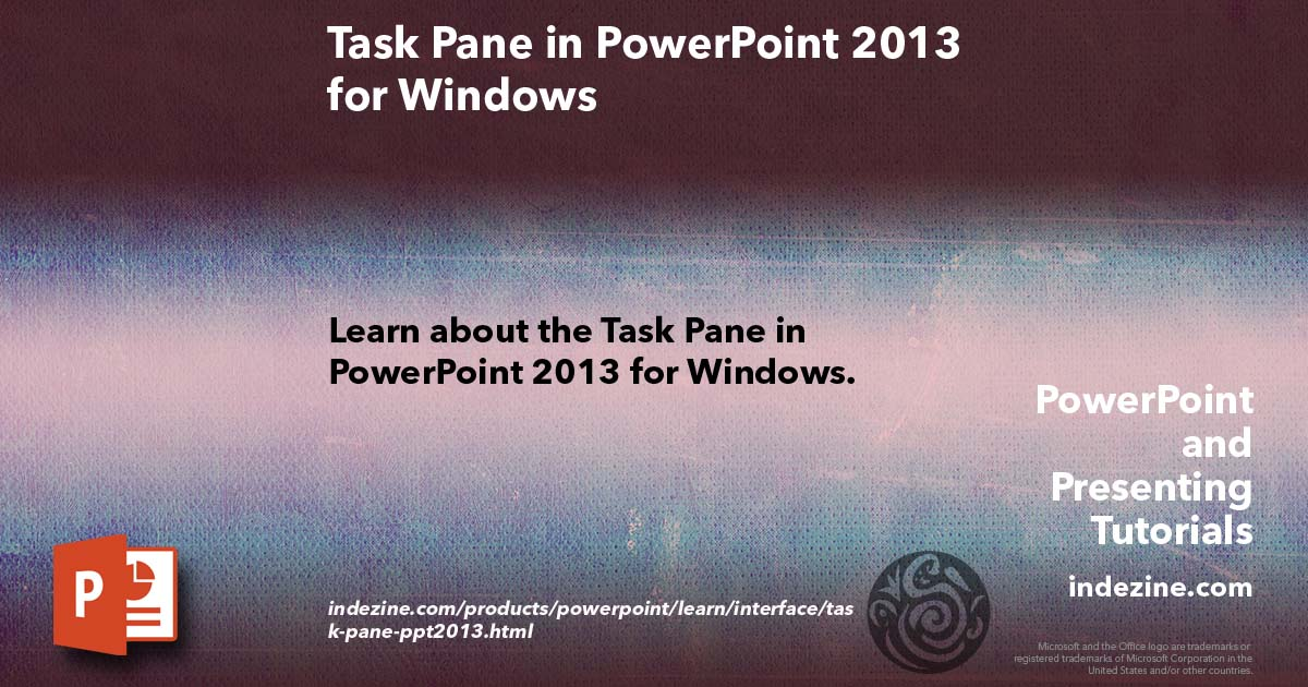 Task Pane In Powerpoint 2013 For Windows