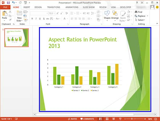 change presentation aspect ratio from widescreen to standard (and, Powerpoint templates