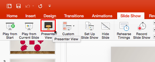 Presenter View button
