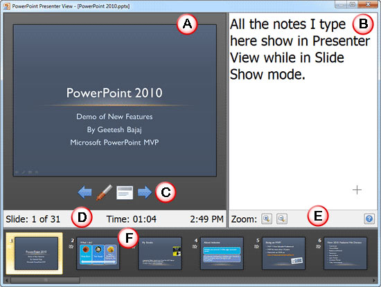 Presenter View In Powerpoint 2010 For Windows
