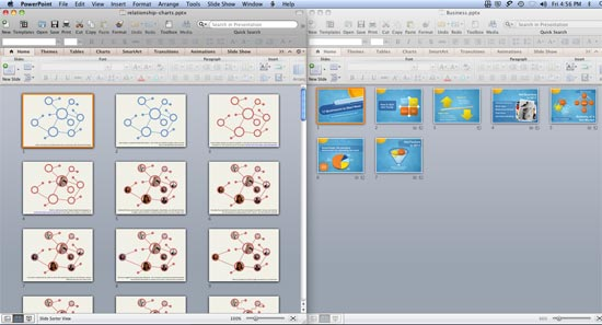 Both presentations in Slide Sorter view