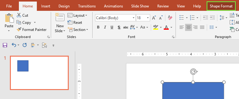 Drawing Tools Format tab in the Ribbon