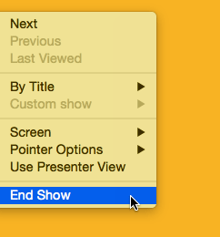 End Show option