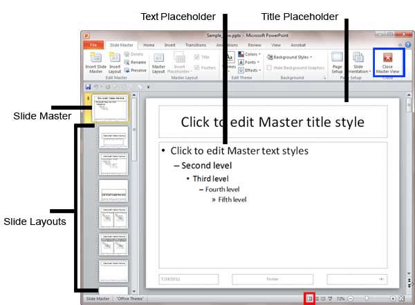 how to make one slide portrait in powerpoint 2010