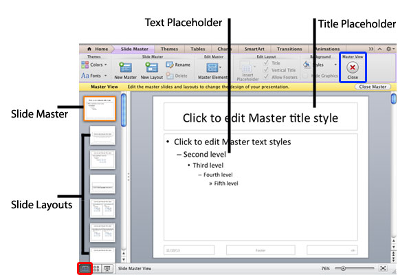 slide master view in powerpoint 2011 for mac