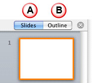 Slides and Outline tab