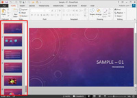 Slides Pane in PowerPoint 2013