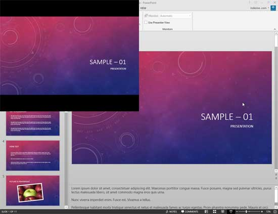 slide show view in powerpoint 2013 for windows