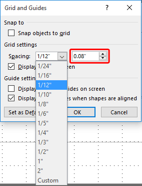 Spacing drop-down list