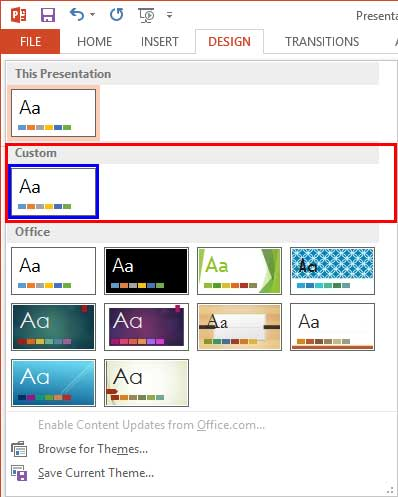 Set standard 43 aspect ratio as default in powerpoint 2013 for windows new custom section comprises the new themes toneelgroepblik Image collections