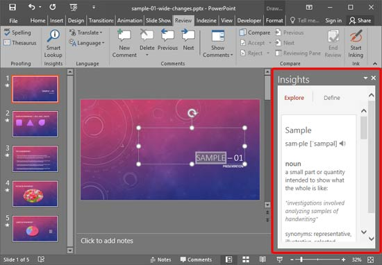 task pane in powerpoint 2016 for windows, Presentation templates