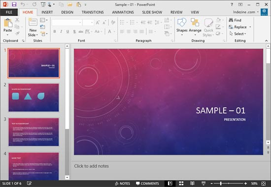 PowerPoint 2013 interface without Task Pane