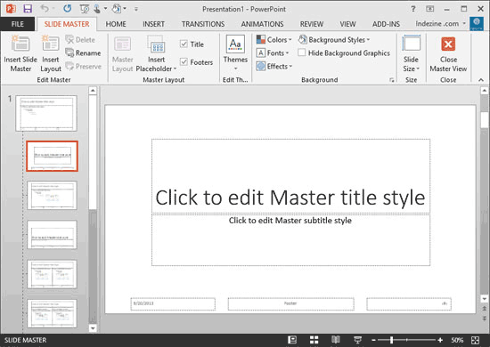 Slide Master view in PowerPoint