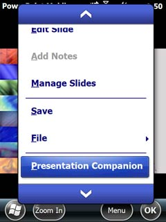 PowerPoint Mobile 2010: Using with the Presentation Companion