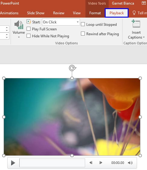 Fade Effect for Video Clips in PowerPoint 2016 for Windows