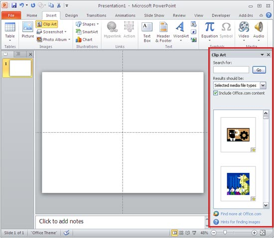 Insert Video Clips from the Clip Art Pane Into PowerPoint ...