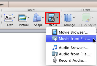 how to insert video in powerpoint on mac