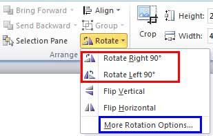 Resize rotate and flip videos in powerpoint 2010 for windows rotate options within the rotate and flip drop down gallery ccuart Images