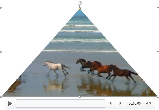 Video within the Isosceles Triangle shape
