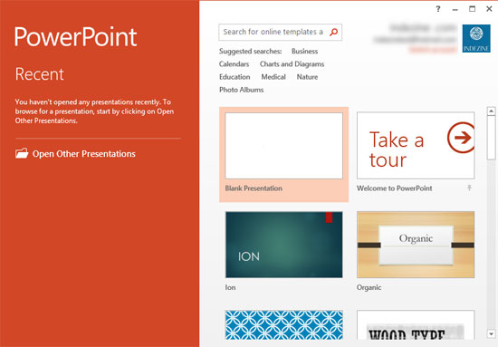 Changing Interface Color in PowerPoint 2013