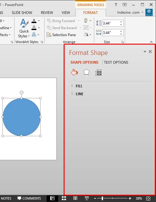 New Format Task Panes in PowerPoint 2013 for Windows