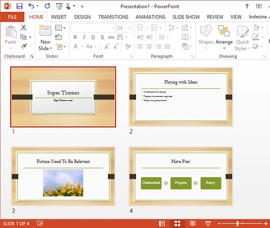 Super themes in powerpoint 2013 for windows slides added to organic theme presentation toneelgroepblik Image collections
